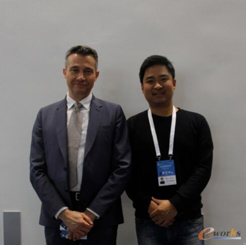 达索系统工业设备行业副总裁Philippe BARTISSOL先生、e-works智能制造门户网主编 涂彬先生