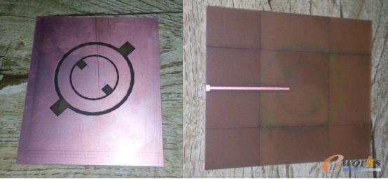 图4-1初步加工的天线