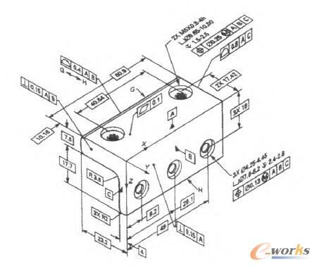 图1 基于三维标注技术的产品模型