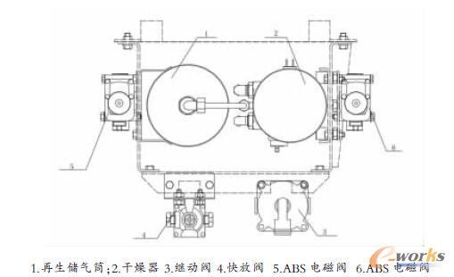 制动元件集中装配示意图-气制动系统元件集中装配的设计