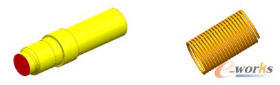 图1 曲轴(左)和线圈(右)