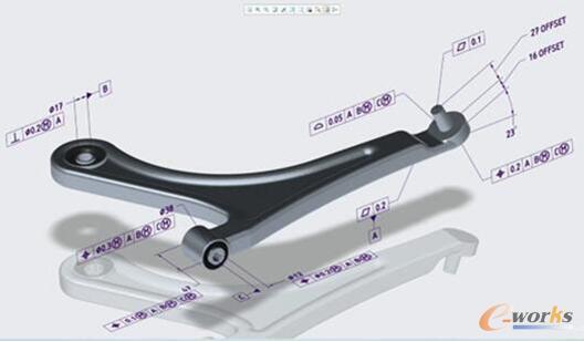 图1 某零件的MBD全三维设计