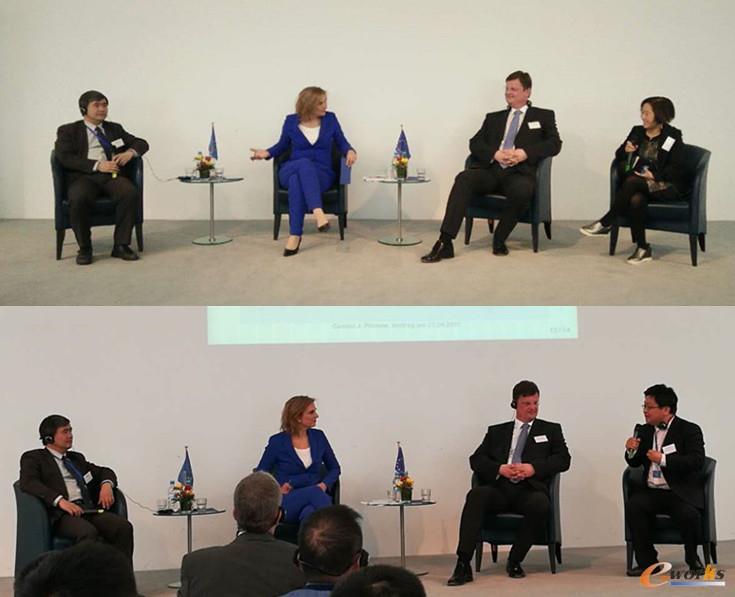 代表团成员参加分组讨论