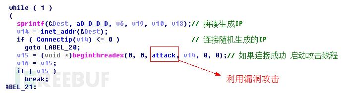 利用漏洞攻击生成的ip