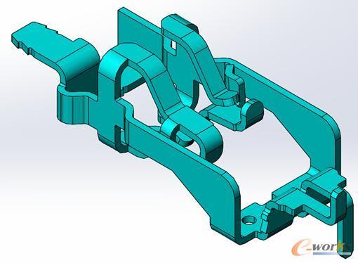 图3 复杂折弯件模型