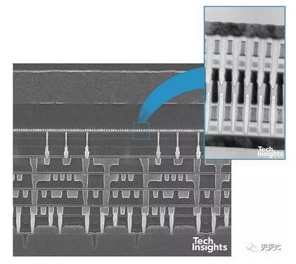 X-point存储器阵列SEM与TEM影像图