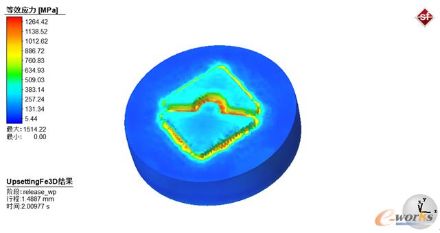图1 logo成形应力云图