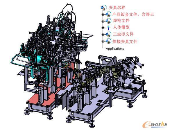 图1 一般线体类焊接夹具三维模型结构树主树