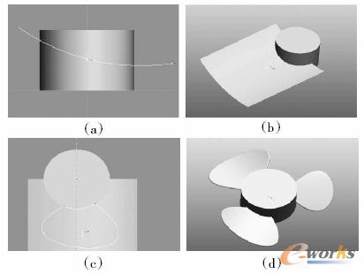 建模的方法是:以top面为草绘面绘制一个圆并拉伸为圆柱体,在f