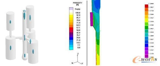 图12 定量化分析固液相的位置与大小