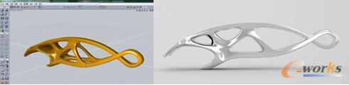 图:利用solidThinking Evolve设计符合优化结果的全新造型