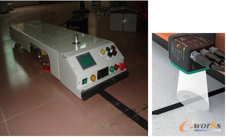 色带导引的AGV
