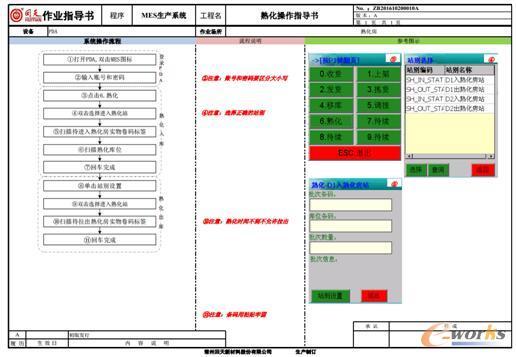 MES系统中的作业指导书