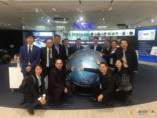 考察团一行在NEC 创新世界合影