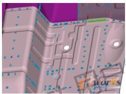 前地板与防火墙处增加绿色结构胶,且起5mm负Z向加强筋