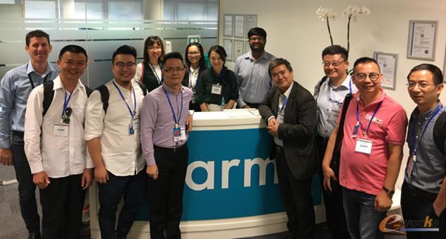 考察团成员在Arm公司物联网业务总部的合影