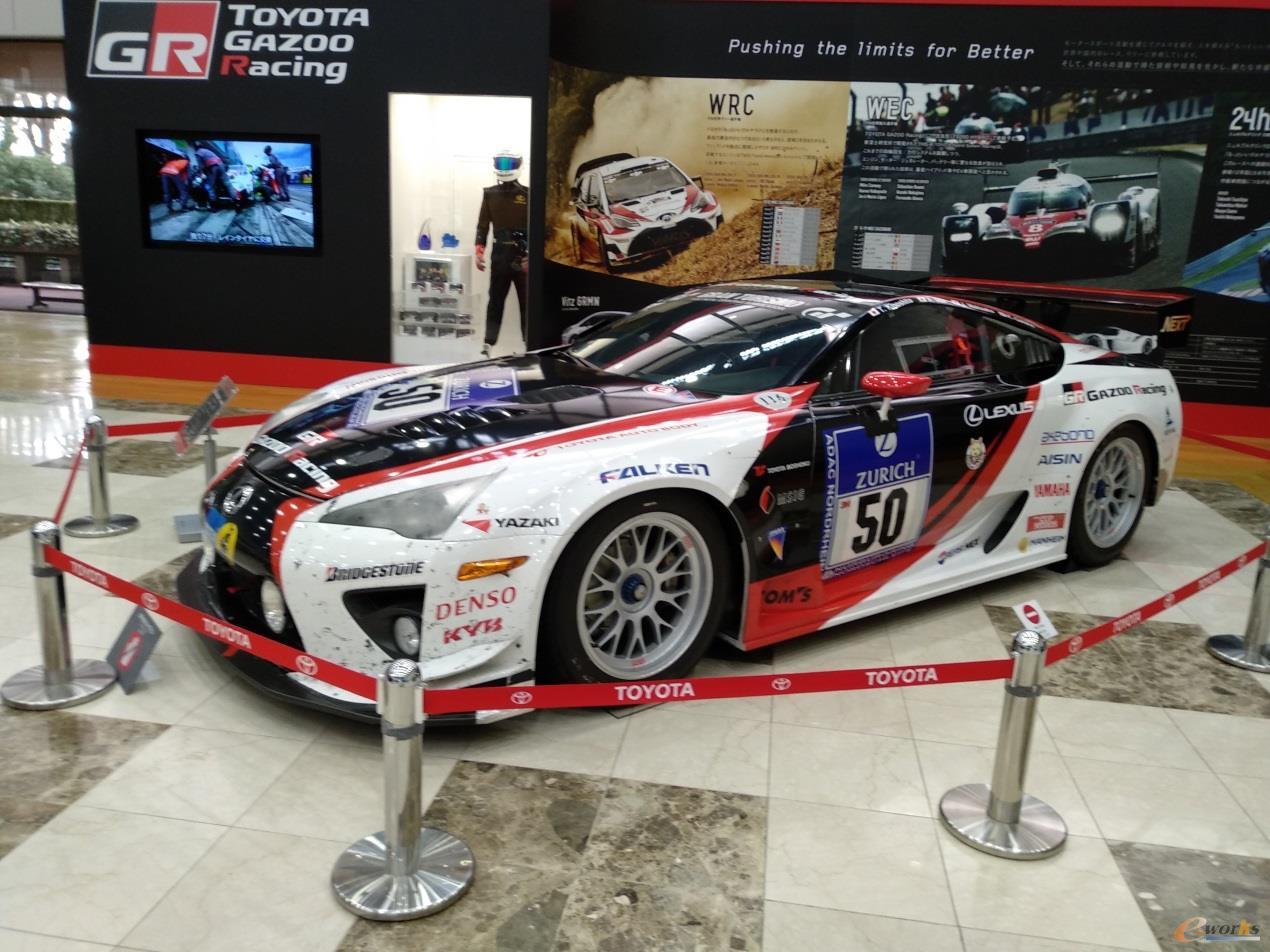 丰田汽车会馆展示的TOYOTA GAZOO Racing赛车