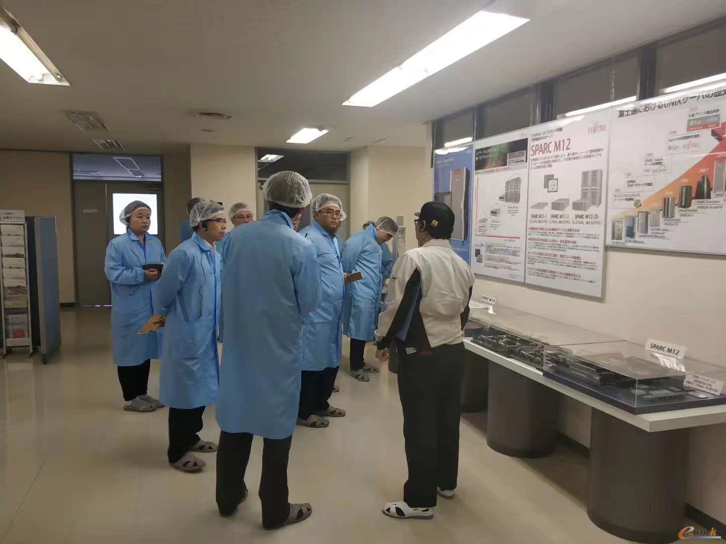 考察团参观富士通石川工厂