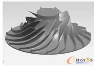 基于nx的径流式叶轮工序集中五轴制造工艺研究图片