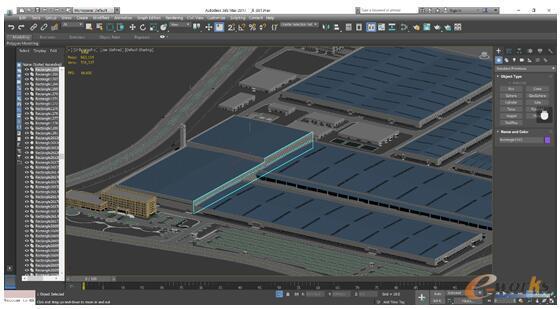 本次试用选择的是公司正在为某汽车企业设计的厂房布局规划模型