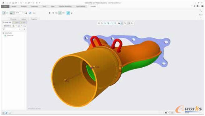图3 创建特征或修改设计,同时保持在透视图模式下