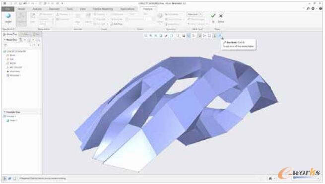 图6 使用箱模式更清楚地了解形状并实现更快的操作