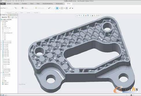 利用Creo创建的复杂可变的晶体结构