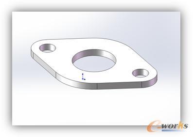 某型叉车液压系统连接某两个部件用的法兰盘