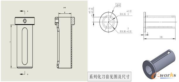内孔刀套尺寸图示