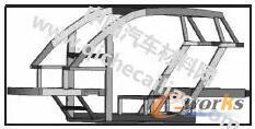 电动车框架初始模型