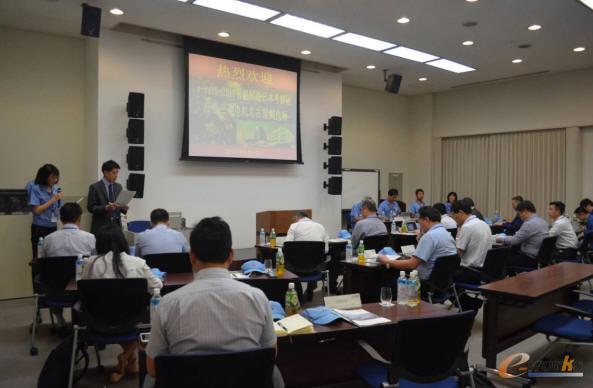 三菱电机为考察团介绍了可儿工厂与名古屋制作所