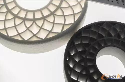 巴斯夫3D打印的热塑性无气轮胎概念