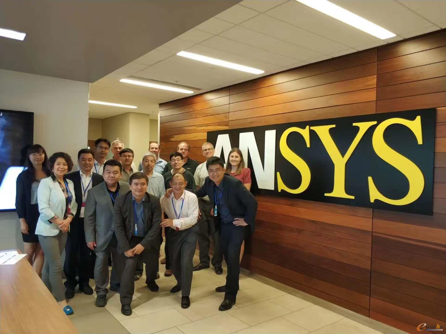 考察团在ANSYS公司合影