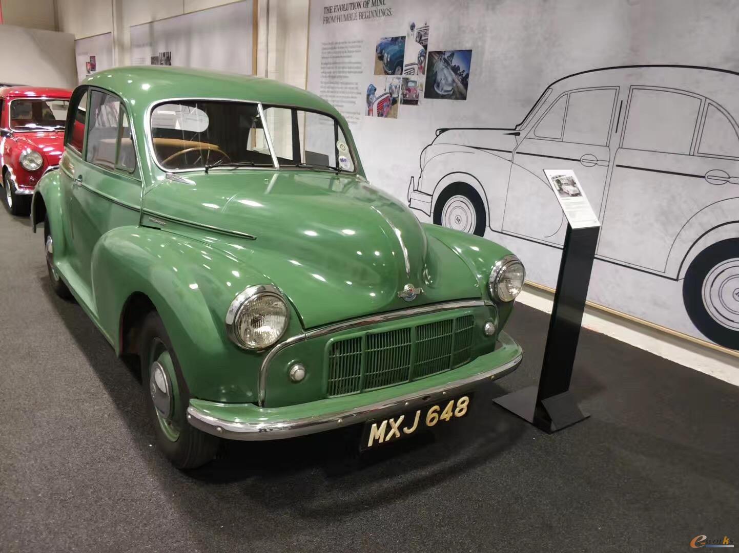 工厂展厅展出的部分Mini车型