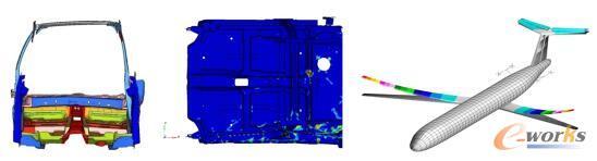 汽车碰撞与机翼模态分析