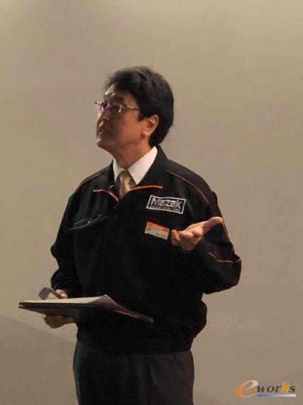 产品经理竹本先生介绍Mazak iSMART Factory方案