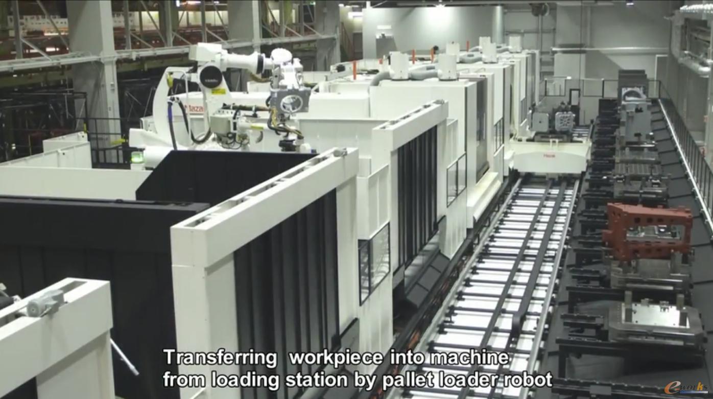 扎克大口工厂的FMS产线