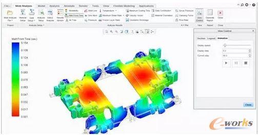 即使用模拟时,工程师可以在生产基于这种模具的物品之前就对设计进行优化。