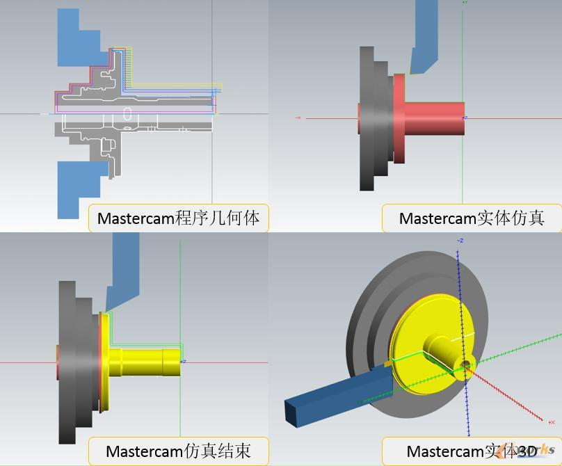 CAM几何装配体及模拟截图