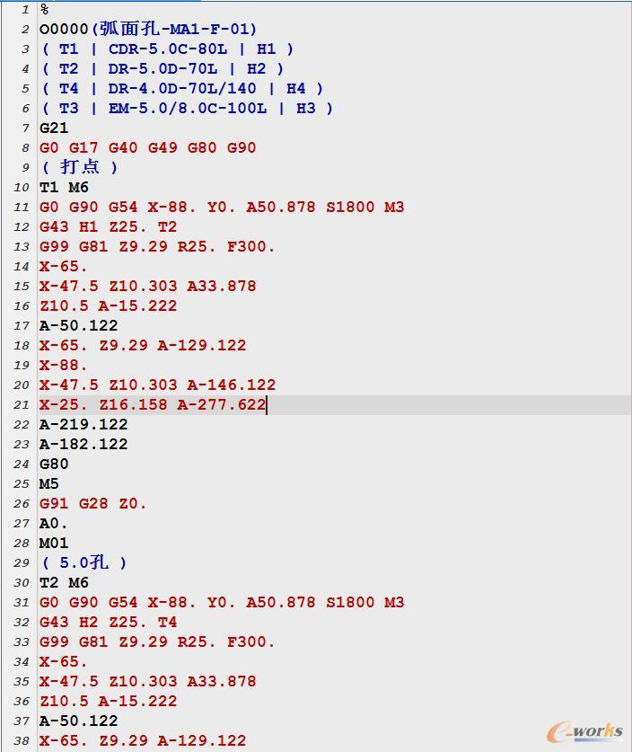 现场加工中心使用G代码