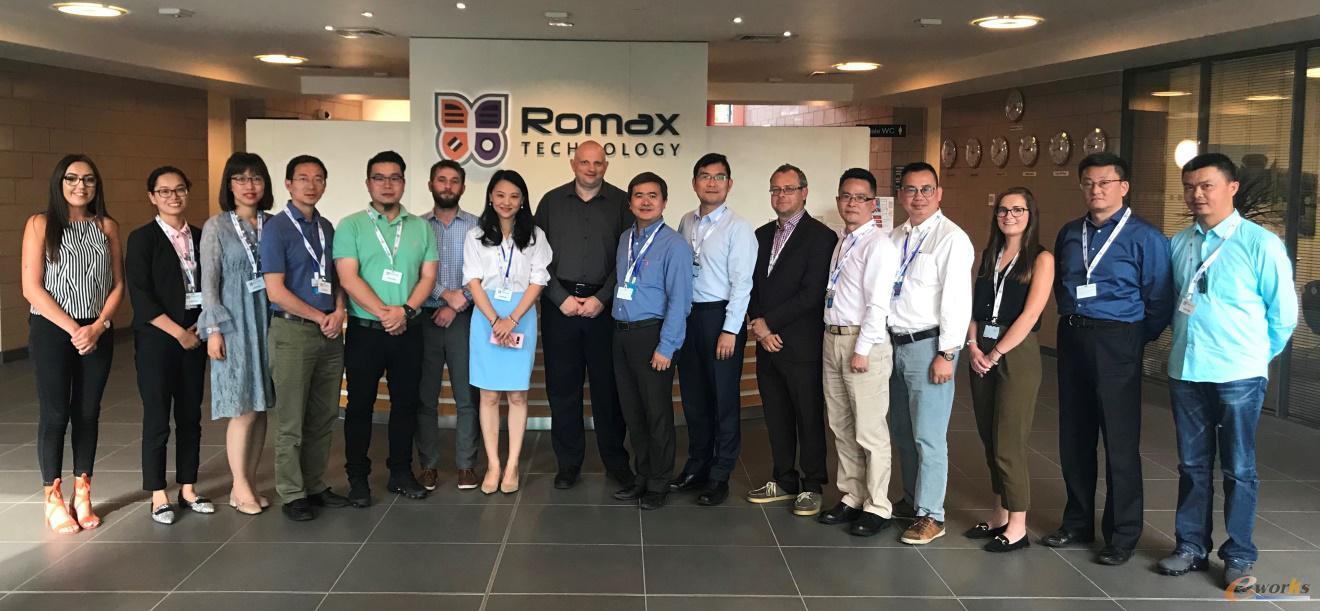 考察团在Romax的合影
