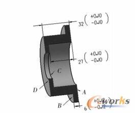 零件结构尺寸及表面编号