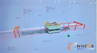 先行分段智能焊接机器人产线可视化