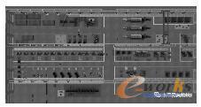锯片车间设施布局透视图