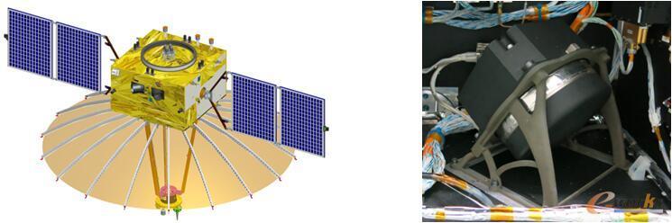 卫星斜装动量轮支架在嫦娥四号中继星上装配示意图