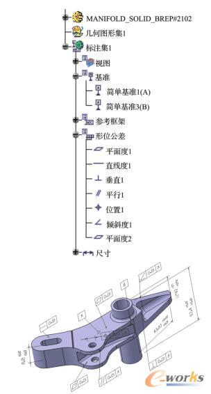某构件的CATIA模型