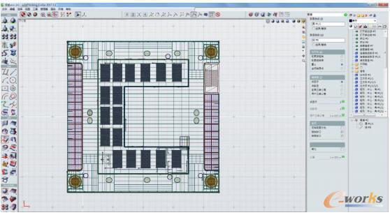 根据CAD图纸绘制立体空间模型