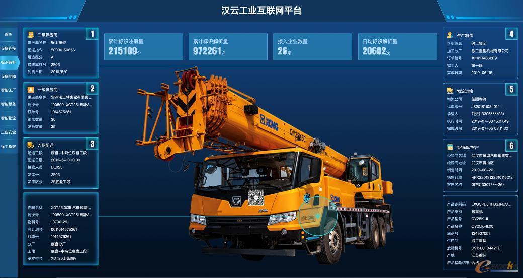 汉云工业互联网平台界面