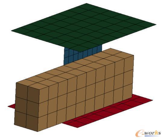 含有动态生成长方块的模型