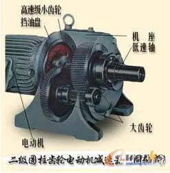 二级圆柱齿轮电动机减速器